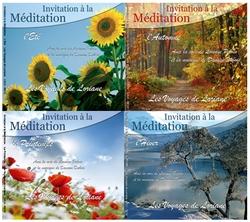 pack 4 CDs, l'été, l'automne, l'hiver, le printemps de Les Voyages de Loriane
